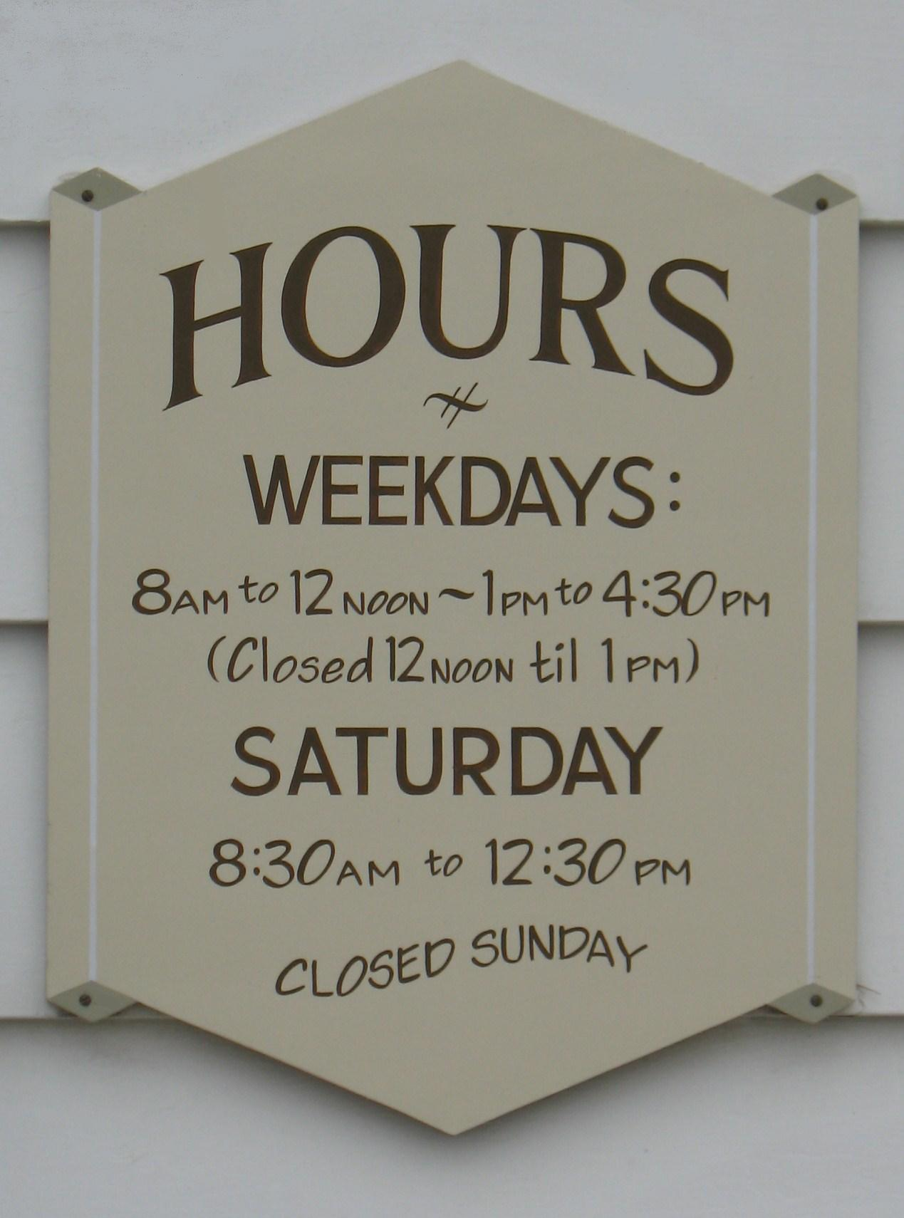 store sign template
